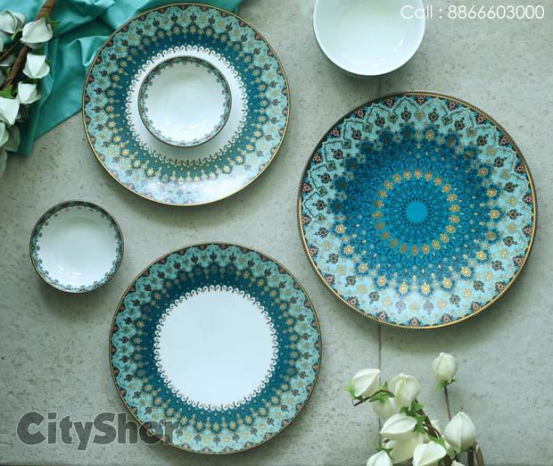 New & Aesthetically Beautiful Dinnerware @ Mantra Furnishing