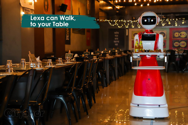 Meet Lexa, Robot waiter at Indian Swag