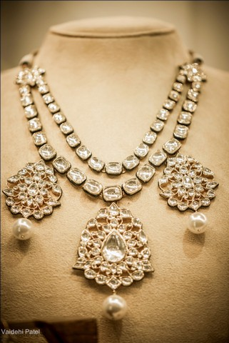 designer set jewellery az maang tikka partywear necklace golden with lucky lct large