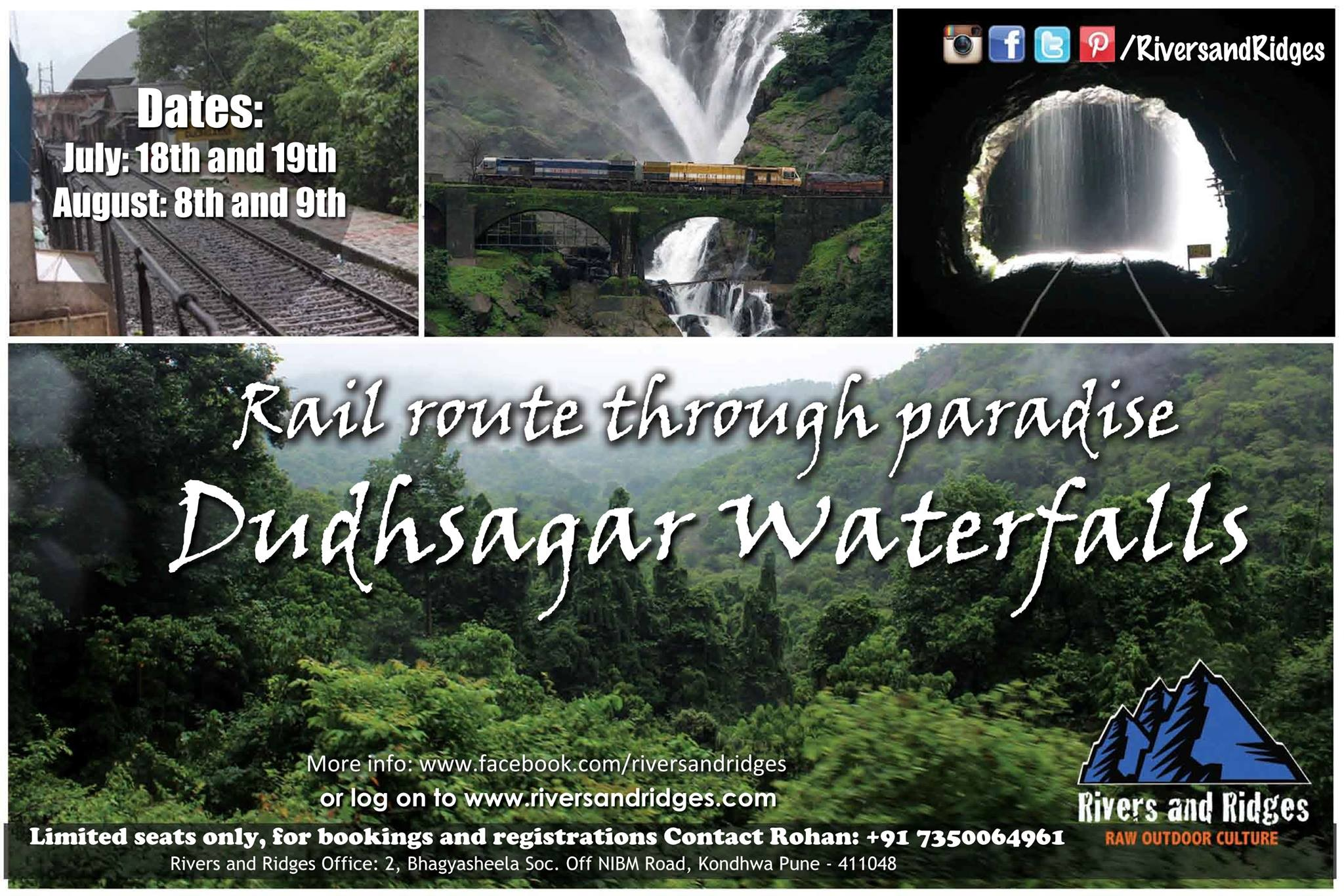 Paradise-like Experience at Dudhsagar Waterfalls with Rivers and Ridges