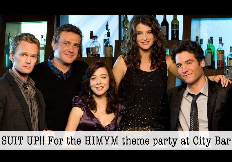 SUIT UP! HIMYM theme party at City Bar