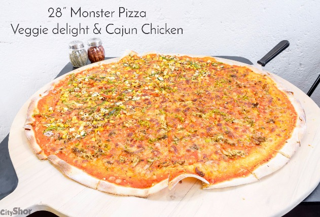 First Time in Pune, 28 Inch Monster Pizza at Baked & Wired!