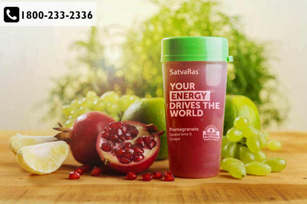 Add the goodness of 100% fresh juices with Satvaras