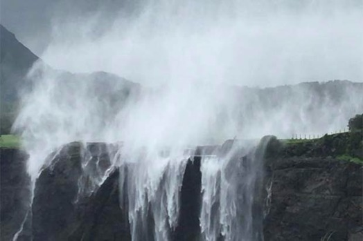 YOU WOULDN'T MIND A LONG DRIVE FOR THIS REVERSE WATERFALL!