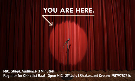 Last day to Register for Chhoti Si Baat Open Mic!