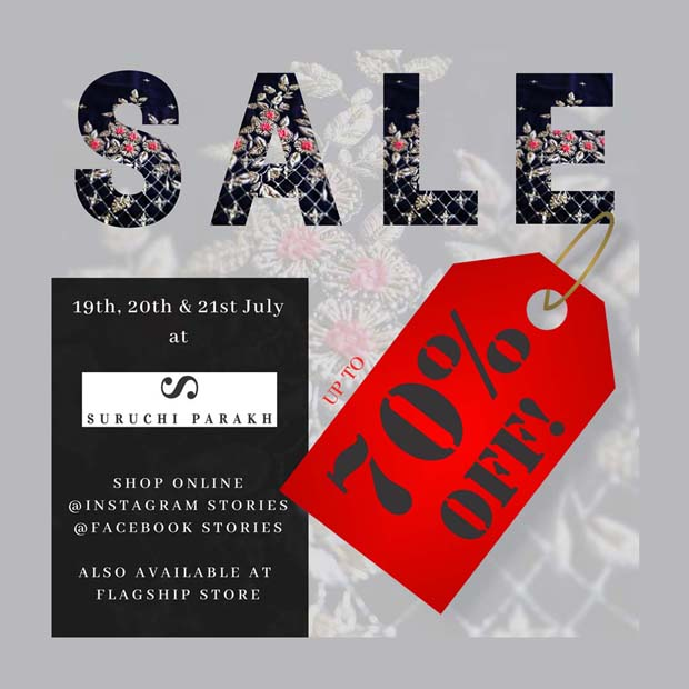 Starts Today | Up to 70% Off At Suruchi Parakh!