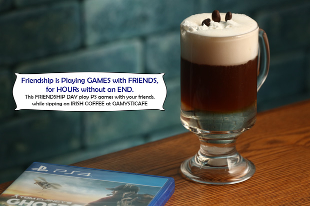 Best place to chill out on Friendship day at Gamysticafe