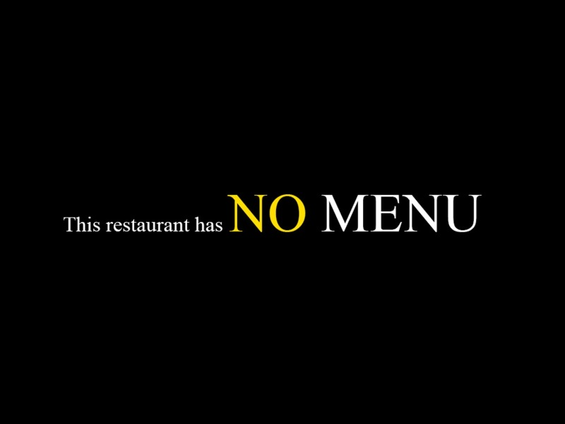 This Restaurant does not have a menu - My Chef