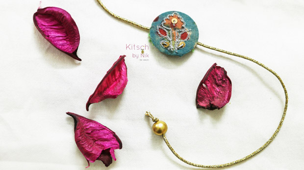 Handcrafted Metal & Textile rakhis from Kitsch by Nik