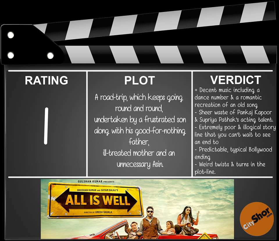 Movie Review - All is Well