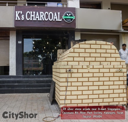Crisp, Homely, fresh Pizza and Garlic bread @ K's Charcoal