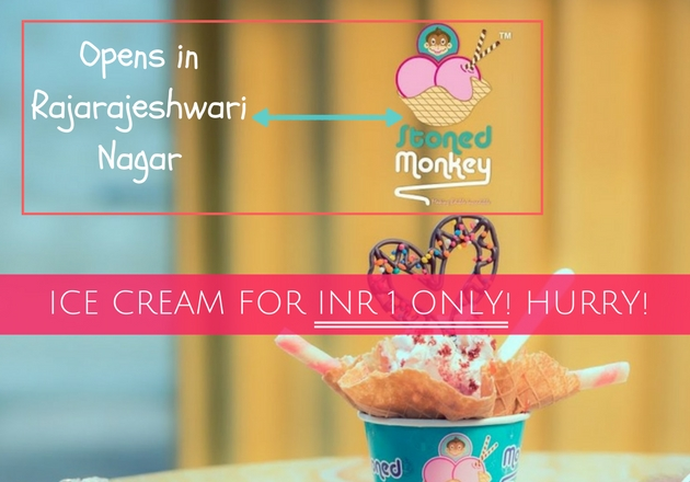 Ice Cream for Rs 1 at STONED MONKEY Rajarajeshwari Nagar