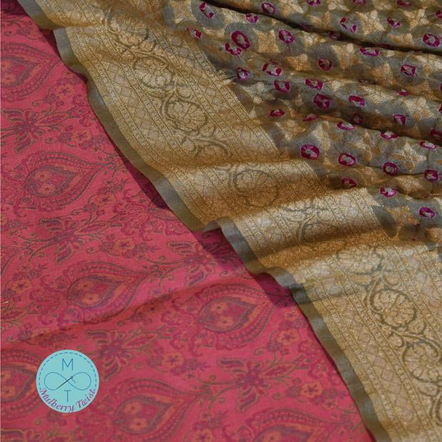 Pure Banarasi Silk Sarees and Dupattas by Mulberry