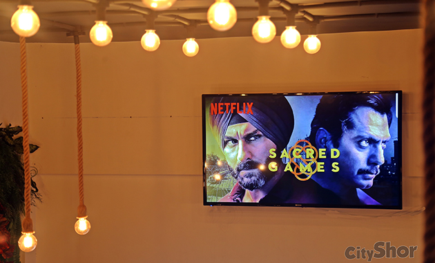 Cafe BUDAS In Kharadi is screening Sacred Games 2 from 15th