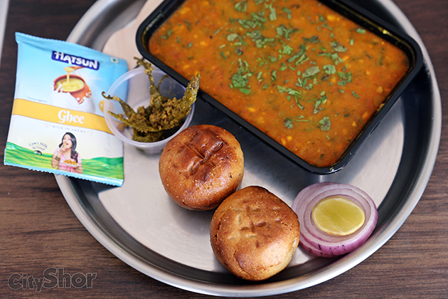 Let's Baati with Dal, Chicken or even mutton!