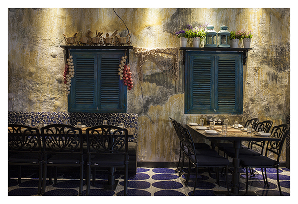 A newly opened restaurant - Mediterranean feel
