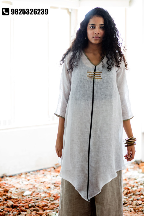 Beat the heat with contemporary linen clothing by KAVERI