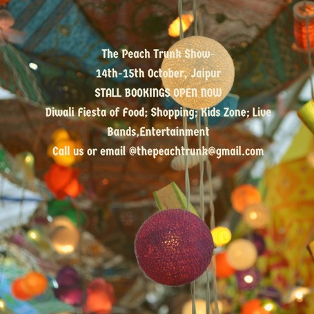 Request for an exhibition space at THE PEACH TRUNK SHOW!