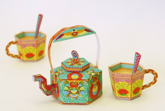 DIY Kitsch Paper boxes by Sky Goodies only at The Little Quirkshop