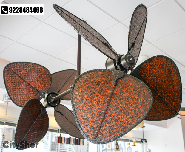 Never seen before Fans, Chandeliers & Wall Clocks at ANEMOS