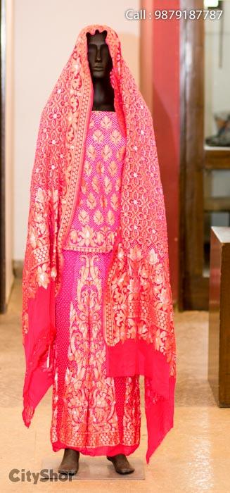 Beautiful Bandhani & Patalos by RAJSHRUNGAR at Anay.