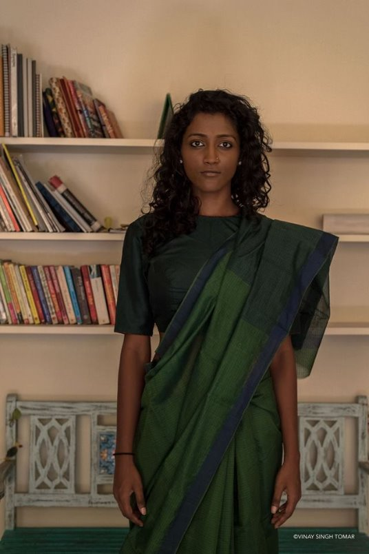 Break the rules. Saree styling-exhibit at The Saree Festival