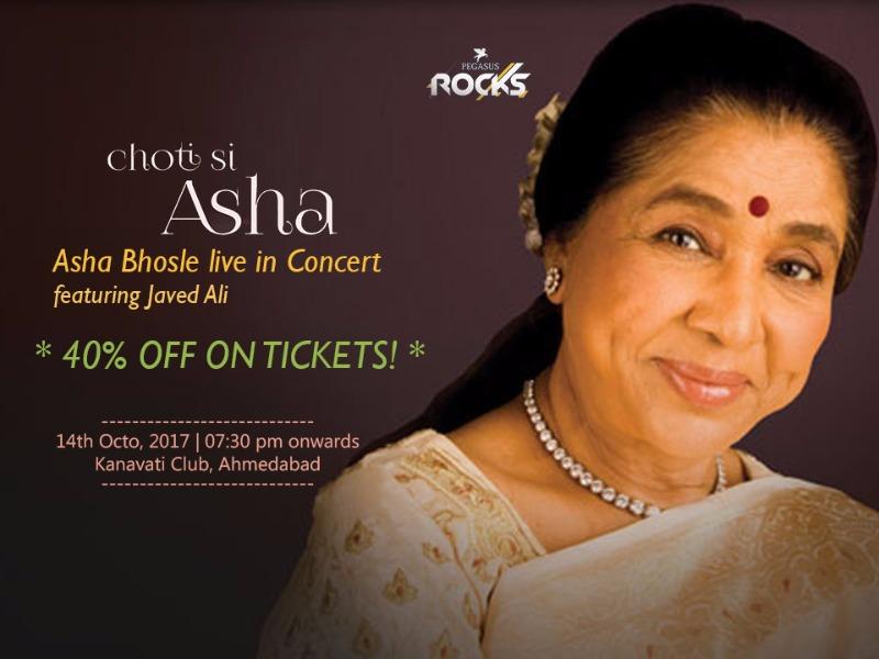Asha Bhonsle LiveinConcert ft. Javed Ali | 40%Off on Tickets