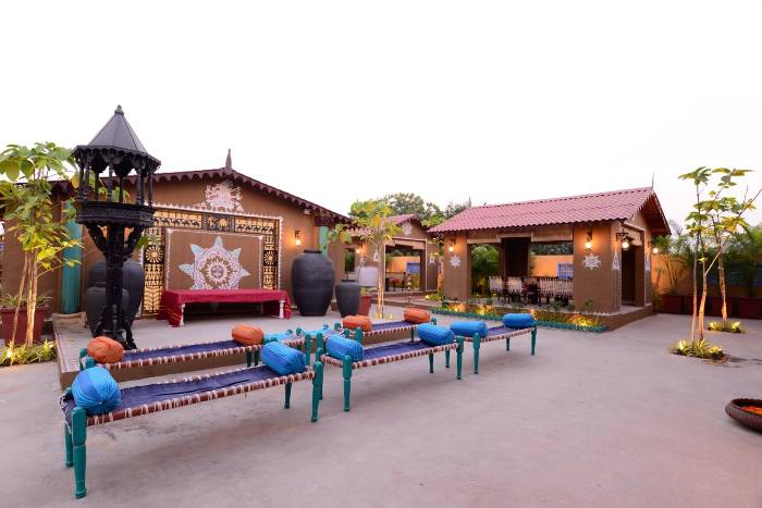 Enjoy traditional village ambiance gujarati meal at the