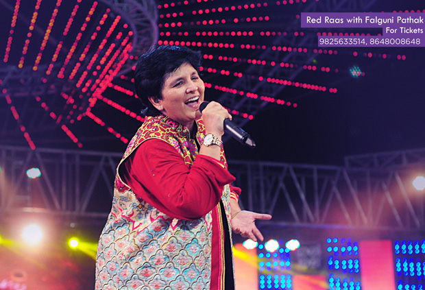 Red Raas with with Falguni Pathak Live at Adani Shantigram!