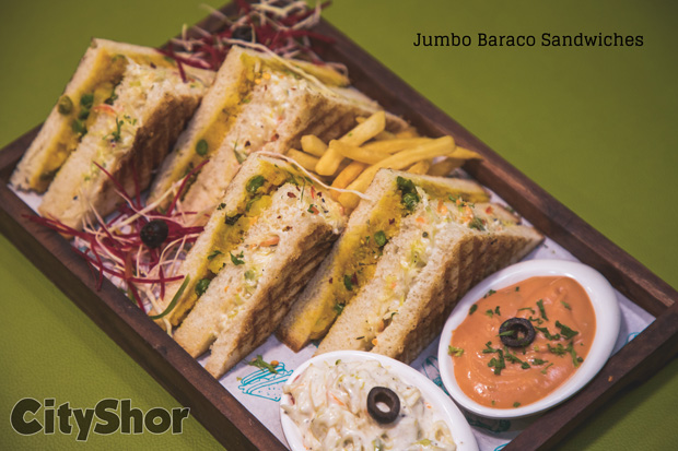 1+1Free on Sandwiches @CafeBaraco Prahladnagar till Navratri