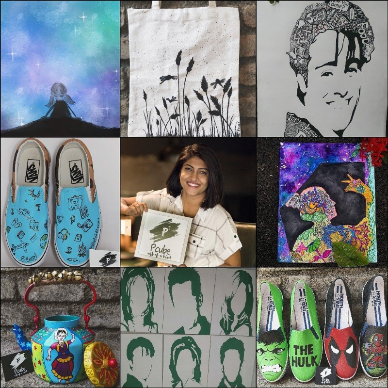 Hand painted gifts right from Rs.100/- onwards at Pcube art