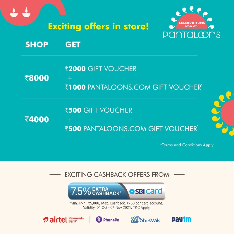 Festive Shopping Offers at Pantaloons