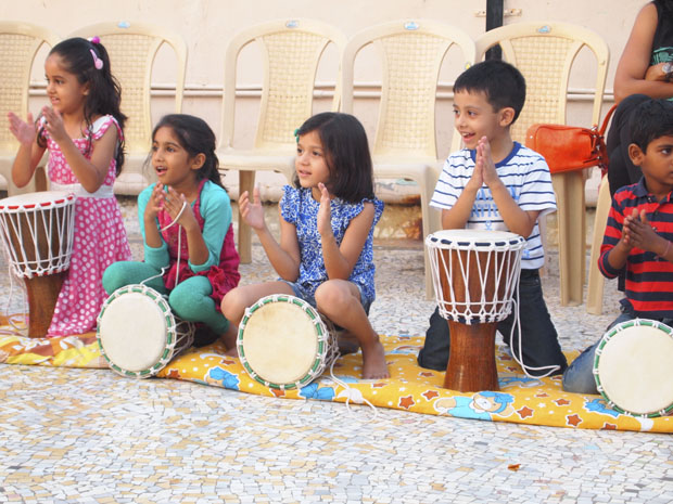 Thump away with The Drum Circle