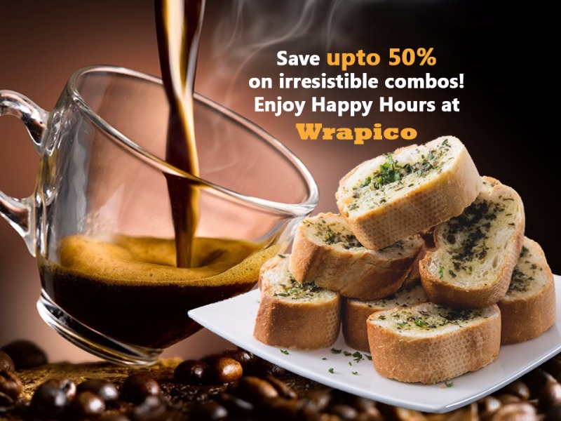 Enjoy Brunches on Weekends with Happy Hours at Wrapico!