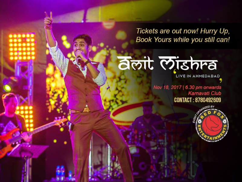 Amit Mishra LiC|Day after tomorrow- Book your Passes ASAP