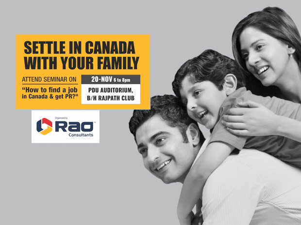 Canada PR And Work Seminar by Rao Consultants