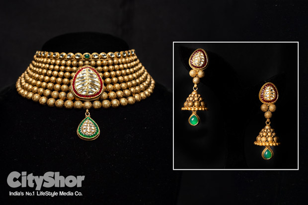 Best of Kundan Temple & Antique Gold Jewellery at DB zaveri