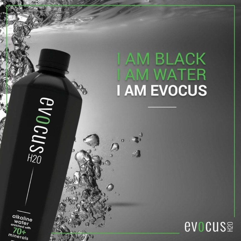 India s 1st black alkaline water - Evocus