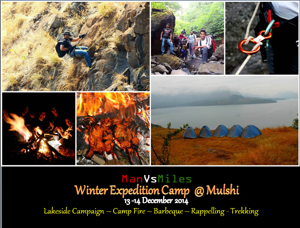 Do what a Punekar does the Best - Trekking, Rapelling, Camping and BBQ with Man v/s Miles!