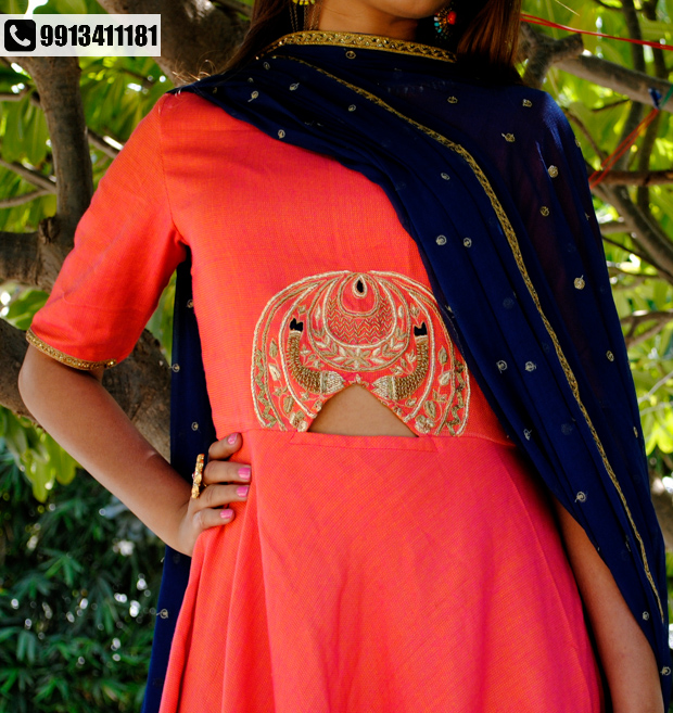 Traditional attire with a contemporary twist by DEVANKSHI!