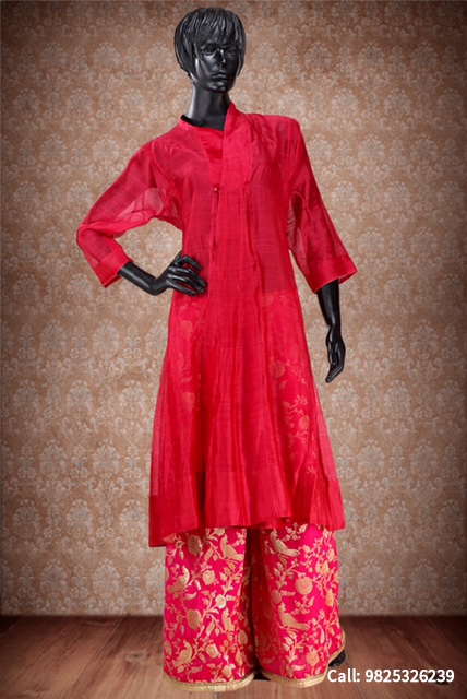 Authentic chanderi and khadi designs by SILK WORM @ OPTIONS