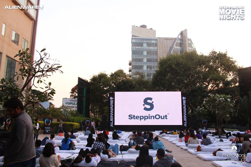 The first ever rooftop screening by SteppinOut Movie Nights