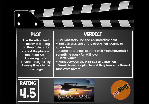 Movie review: STAR WARS: ROGUE ONE