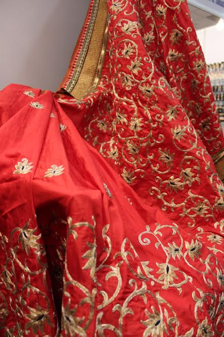 Befitting Embroidered Saris at Priyanka Kankia Fashion House