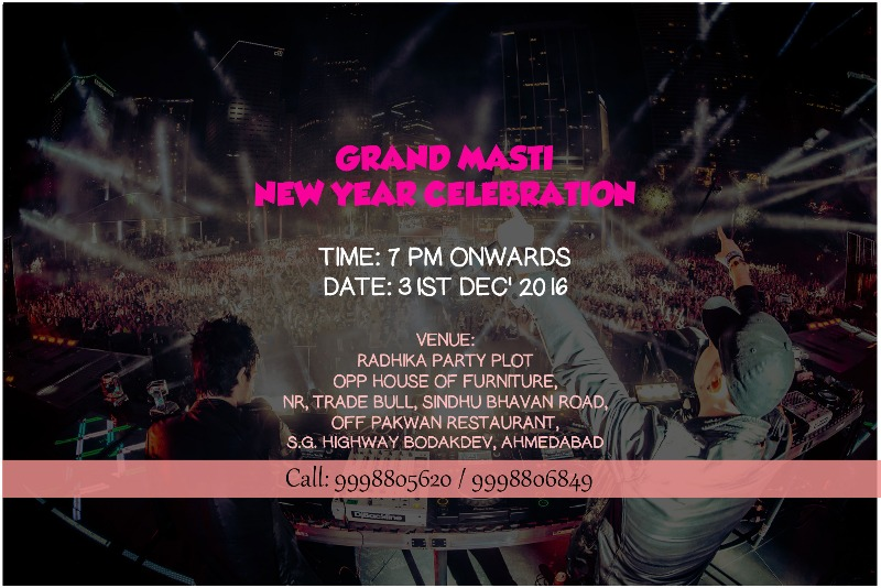 The best of the new year's eve parties in Ahmedabad.