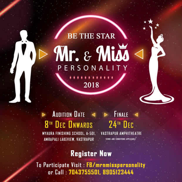 Participate in Mr & Mrs Personality 2018