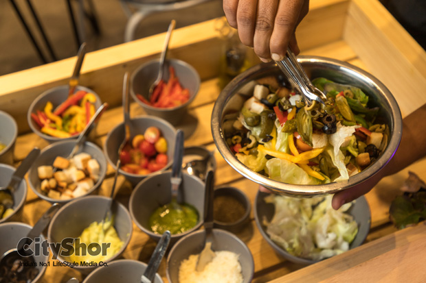 Here Salad & Ice-creams are made on your tables Cafe Gusto
