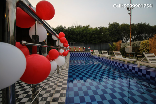 Intimate poolside dining in Private gazebo on NYE at Just Us