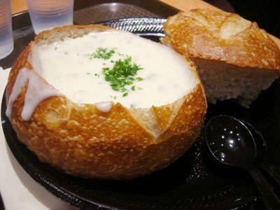 SOUP IN A BREAD BOWL at Eatmosphere