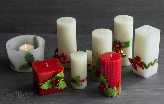 christmas candles from oia design studio